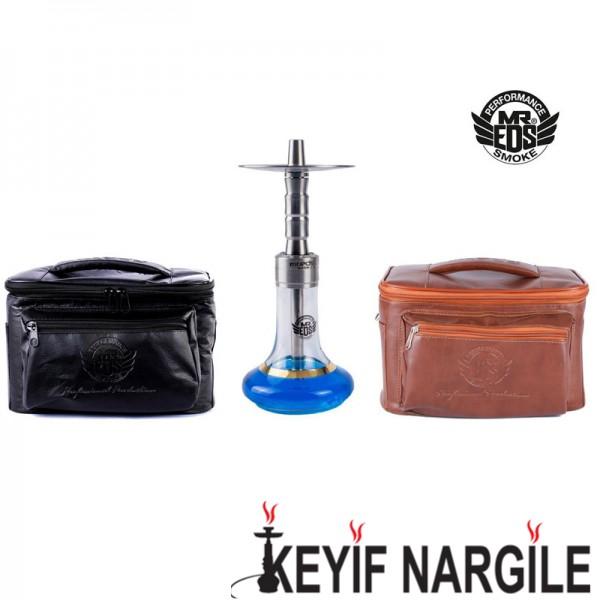 Mrs. Eds Smoke E-23 Small King Çantalı Çelik Orta Boy Masaüstü Nargile Takımı