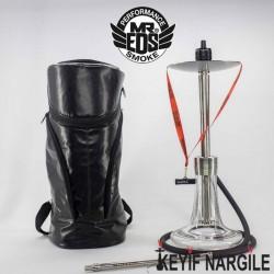 Mr. Eds Smoke E25 Bodyguard Taşıma Çantalı Çelik Nargile Takımı