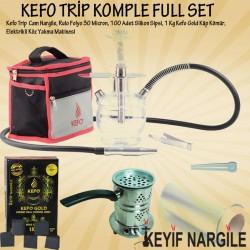 Muhteşem Kampanya - Kefo Trip Çantalı Cam Nargile Takımı Full Set