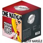 One Nation Hindistan Cevizi Küp Nargile Kömürü 1 Kg