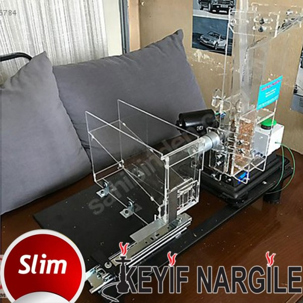 Fasfil Hazneli Filtre Aparatlı Otomatik Slim Tütün Dolum Makinesi