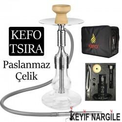 Kefo Tsira Çantalı Çelik Nargile Takımı